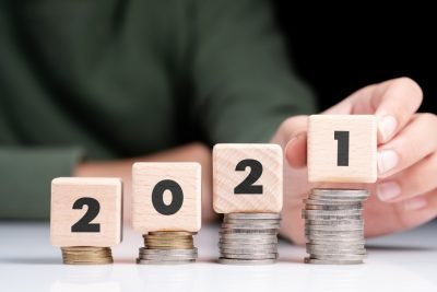 2021 estate planning resolutions | 2021 blocks on coin stacks